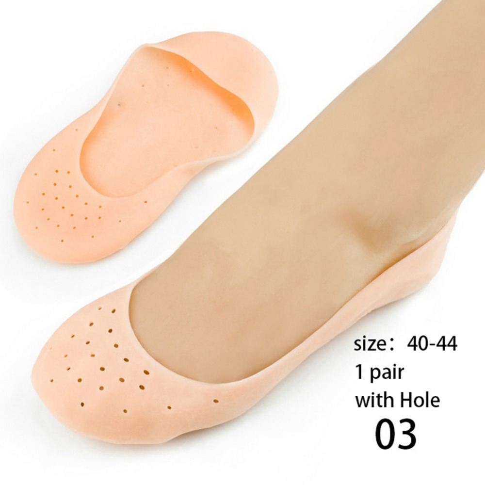 1Pair Silicone Moisturizing Gel Heel Socks Cracked Foot Skin Care Protector Feet Massager Foot Pain Relief Silicone Sock #253615 foot care massager health care plaster treatment heel pain stimulate the zb pain relief achilles tendinitis medical plasters
