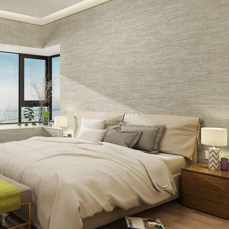 Nordic Moderne Einfache Tapete 3D Plain Farbe Leinen Textur Wand Papier Für  Schlafzimmer Wohnzimmer TV Sofa