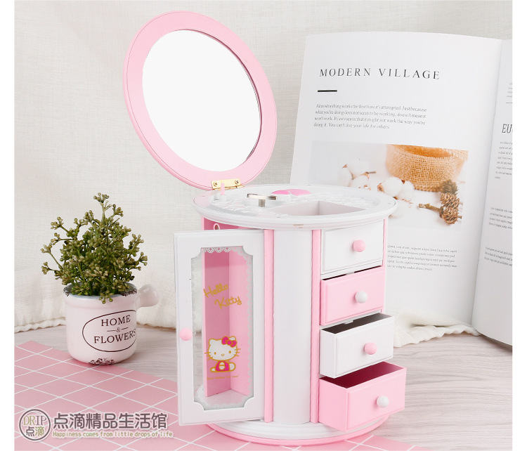9800ab100 Detail Feedback Questions about Hello Kitty small drawer storage KT ...