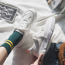 Купить с кэшбэком Women Sneakers New White Shoes Women's Shoes Casual Vulcanized Ladies Casual Shoes Breathable Walking Flat Shoes Tenis Feminino