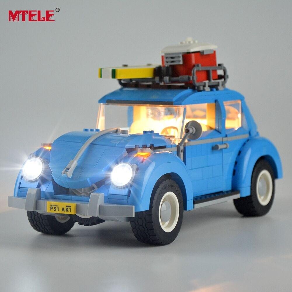 MTELE HA CONDOTTO Kit Luce Per Volkswagen Beetle Costruzione di Illuminazione Set Compatile Con Lego 10252 E 21003