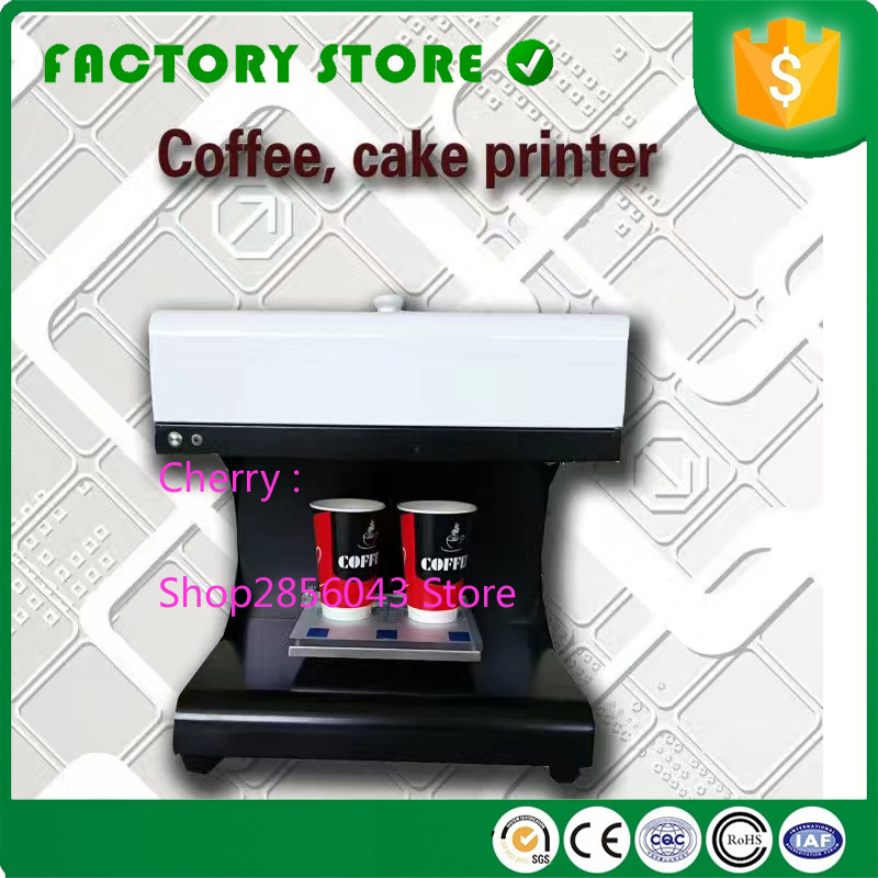 US $39.0 |Factory supply Multicolor coffee printer coffee foam printing  machine food coloring printer ink 3d coffee printer-in Food Processors from  ...