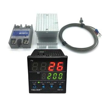 цена на 100V-240V new pid digital temperature controller Max adjust temperature 1372 °C+2M K thermocouple+Max 40A ssr+good radiator NEW