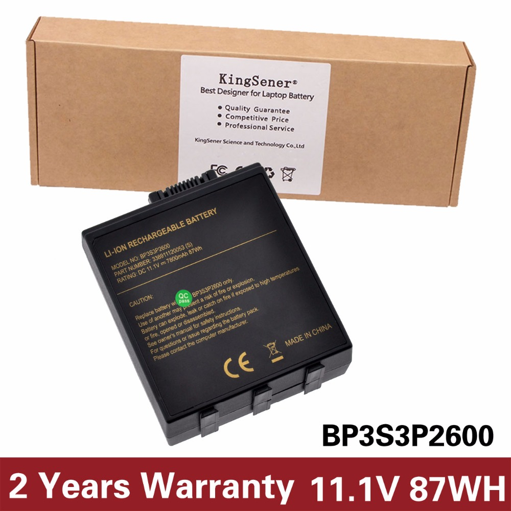 купить KingSener New BP3S3P2600 Laptop Battery for Getac A790 BP3S3P2600 338911120053 (S) Bateria 11.1V 7800mAh Free 2 Years Warranty по цене 5016.86 рублей