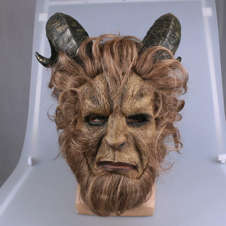 La Bête Cosplay Masque Film la belle et la Bête Adam Prince Effrayant Masque Latex Lion Casque Halloween Party Masque D'horreur