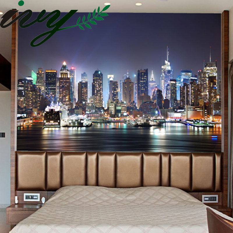 Luxury 3D Wallpapers Wall Paper Mural Walls papel de parede 3D Customized Large Murals Wallpaper for Living Room # Night City 7inch for texet tm 7896 x pad quad 7 2 3g tablet pc capacitive touch screen glass digitizer panel