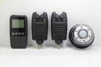 Ücretsiz Kargo Su Geçirmez Kablosuz balıkçılık alarm set 2 * Alarm Bit + 1 * dokunmatik şok Alıcı + lamba işık alıcı için Sazan Balıkçılık