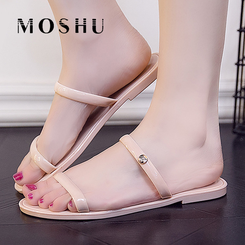 Summer Women Slippers Beach Ladies Flats Sandals Slip On Flip Flops Casual Shoes Slides Sandalias 2017 summer pearl women slippers velvet sandals flip flops slip on flats woman beach platform women shoes plus size 35 39