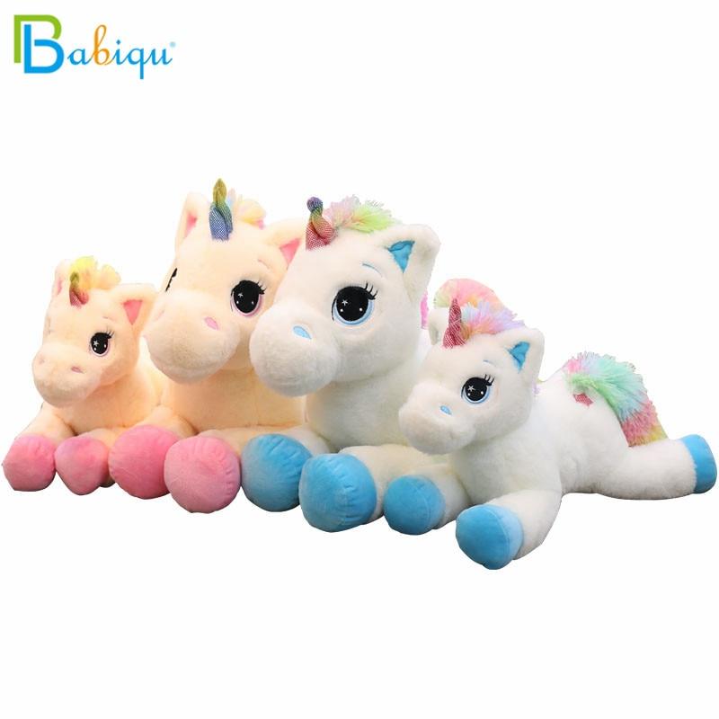 1pc 40/60cm Kawaii Stuffed Animal Baby Dolls Cartoon Rainbow Unicorn Plush toys Kids Present Toys Children Baby Birthday Gift 1pcs7 18cm so cute baby toys rainbow giraffe plush toys dolls for kids brinquedos kawaii gift for your friends on 7 colors