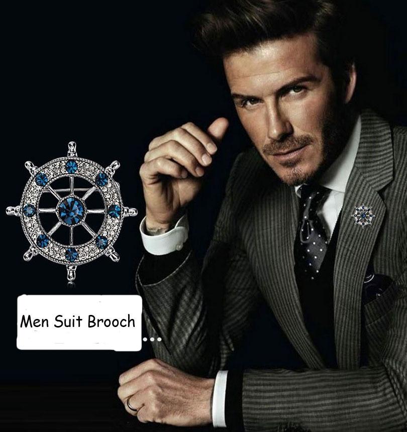 Unisex Rose Flower Brooch Pin Men Suit Accessories Classic