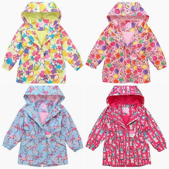 Creek desgaste de los niños 2016 nuevas muchachas del resorte grande virgen de moda de cachemira fina lluvia a prueba de viento chaqueta de la capa de la cintura