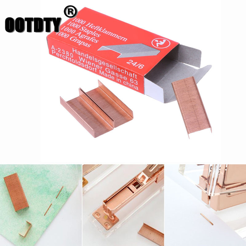 1000Pcs/Box 12mm 12# 24/6 Creative Metal Staples Office School Binding Supplies Dropshipping