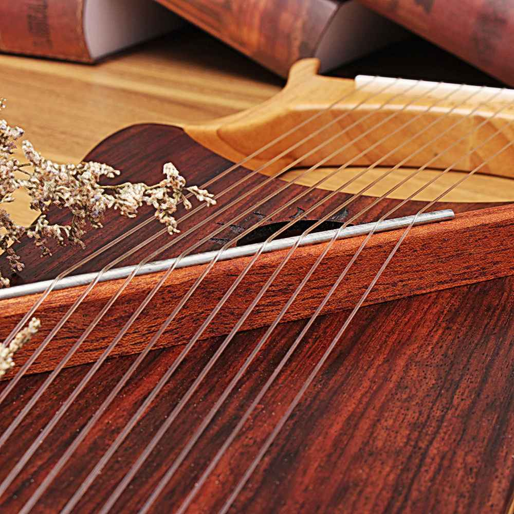 Lyre harp 10 металлических струн инструмент из красного дерева для начинающих - 4