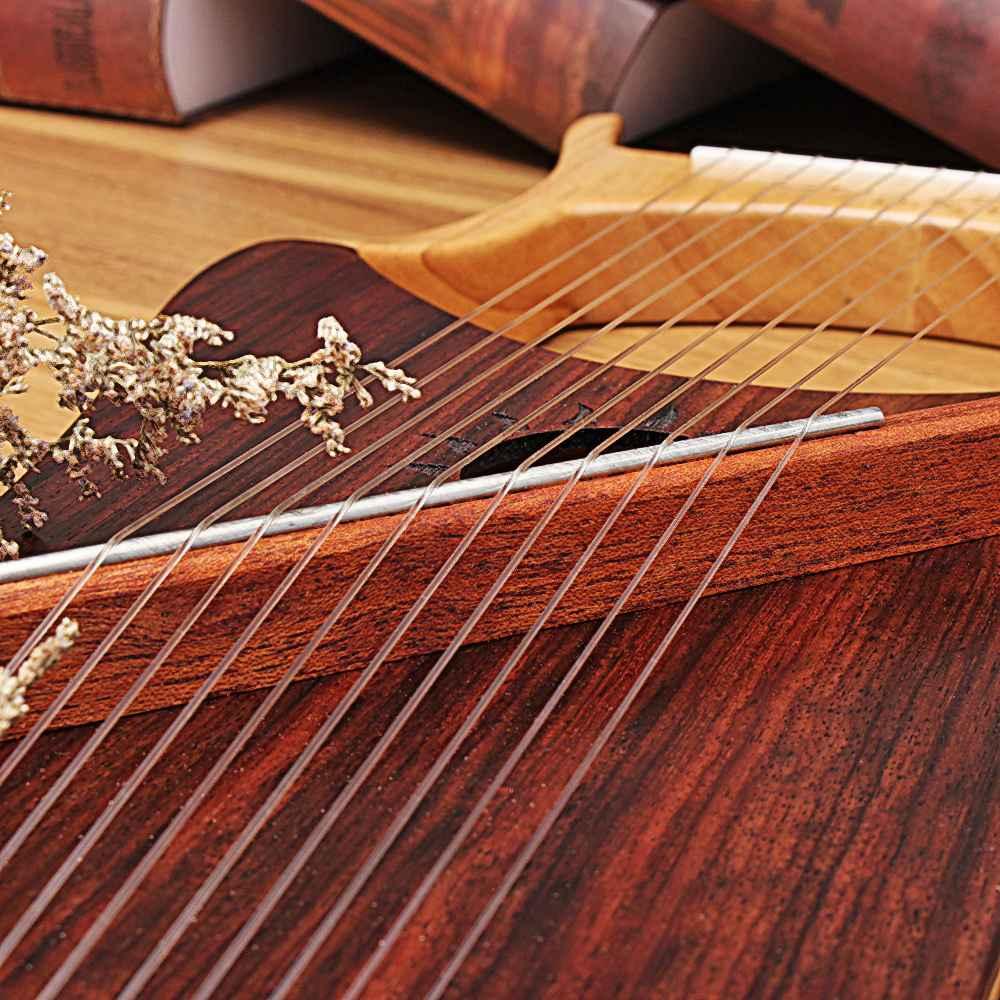 Walter. t 10 String Houten Lier Harp Metalen Snaren Maple Hout Topboard Mahonie Bord String Instrument met Draagtas WH 11 - 4