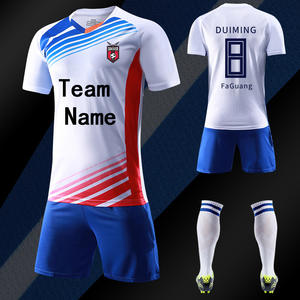 7329e2561 Mens boys football jerseys set blank soccer team training suits 18-19  personality