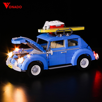 LED light up kit for lego 10252 technic City Car Beetle Model Compatible 21003 Building Blocks Bricks (only include light set)