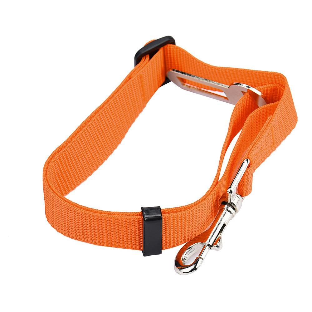dog seatbelt orange