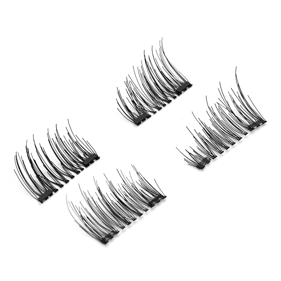HaHaLash Magnetic Eyelashes 6D eype with two tiny magnets Natural curl Hand Made Factory Sell Eyelashes extention-HH-CT06-2