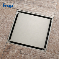 Frap 10*10cm Square Brushed Floor Drain Bathroom Invisible Floor Waste Bath Shower Drain Deodorizing Bathroom Drains Y38107
