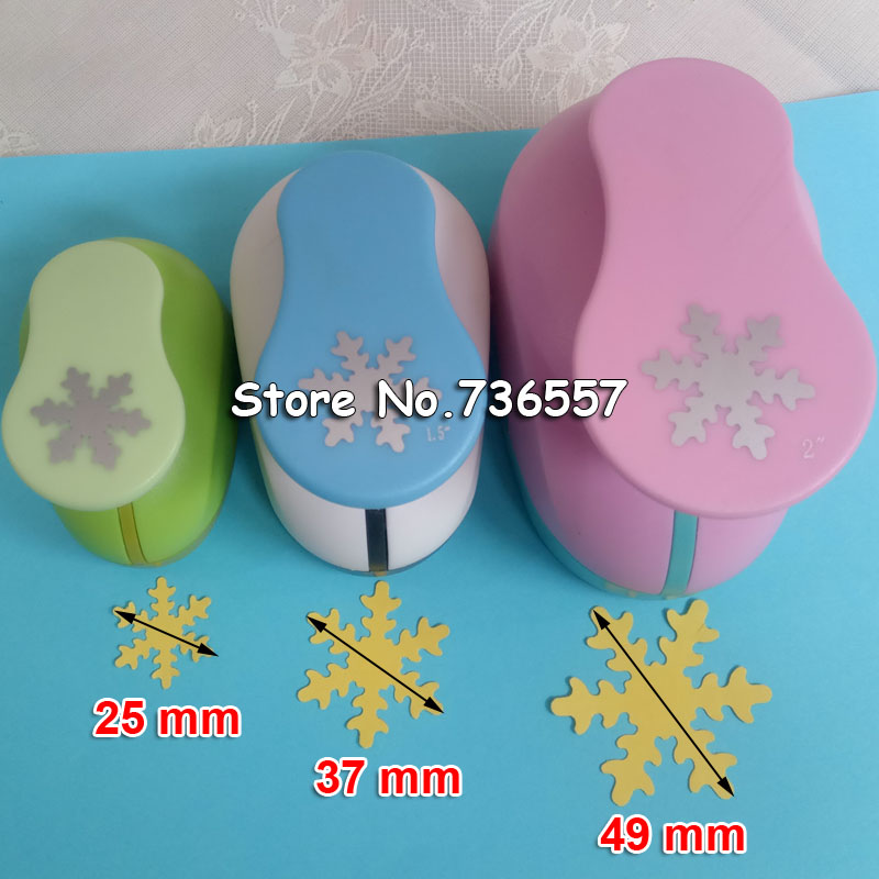 4.9cm 3.7cm 2.5cm Snowflake Craft Punch Set Children Manual DIY Hole Punches Cortador De Papel De Scrapbook Snow Punch 2