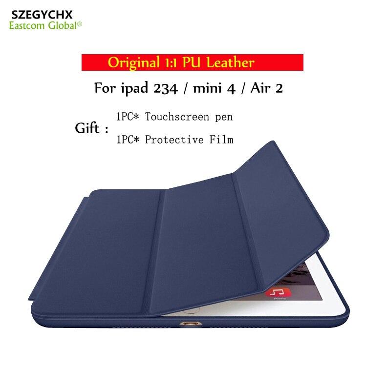SZEGYCHX Original 1 1 PU Leather Ultra Slim Smart Tablet Cover For iPad 234 mini 4