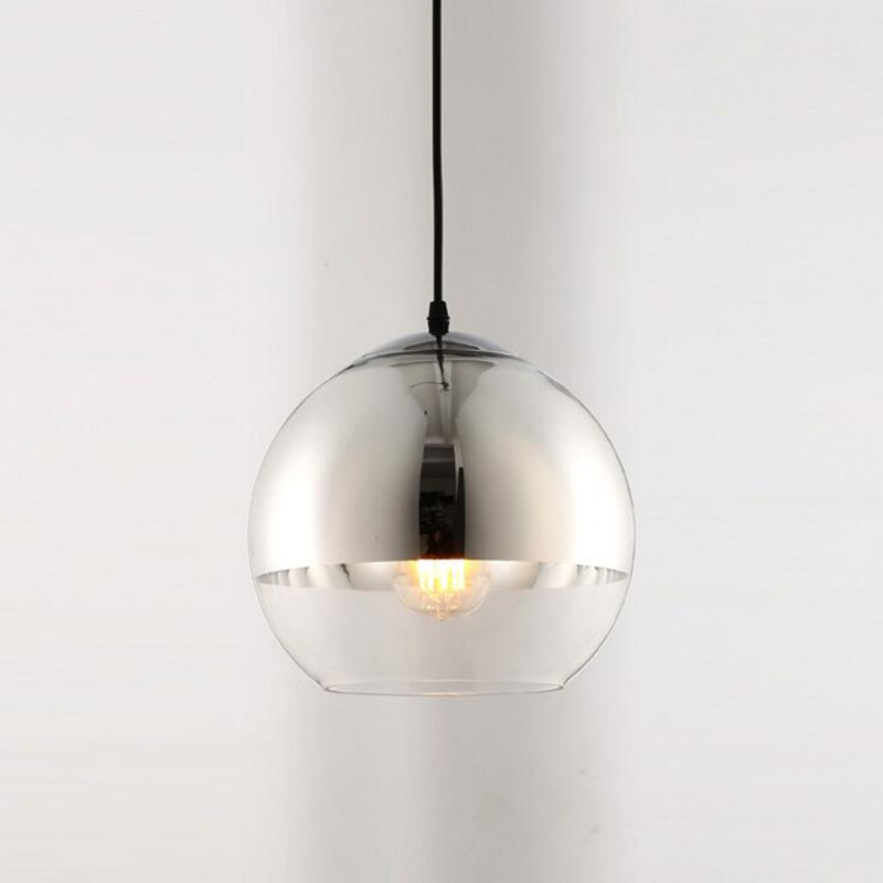 Modern Pendant light Plated Glass indoor lamp restaurant bar ceiling shop lighting hanging decoration light fxiture AC110-265VModern Pendant light Plated Glass indoor lamp restaurant bar ceiling shop lighting hanging decoration light fxiture AC110-265V