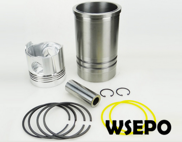 OEM Quality! Cylinder Liner/Sleeve+Piston(6 pc)Kit for ZS1110 4 Stroke Small Water Cooled Diesel Engine parts for changchai zn490q engine gasket piston rings cylinder liner main bearings water temp sender water pump pistons