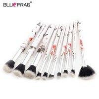 BLUEFRAG Professional Makeup Brushes Set Chinoiserie Handle Design 10pcs Eye Shadow Brush Blending Soft Cosmetics Makeup