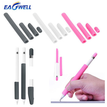 For Apple Pencil Case Non-Slip Silicone Sleeve Cover Case Holder Tip Nib Cap Protector Wrap Kit For Apple iPad Pro Touch Pencil