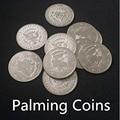Palming Coins(Half Dollar Version)- Metals,super thin,10pcs,magic trick,gimmick,accessories,mentalism. classic toys