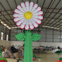 Large inflatable flower tree for garden environment decoration Sunflower Inflated Standing Inflatable Flower Tree with Grass