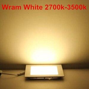 Image 5 - 20 pcs/lot Dimmable Ultra mince 3 W/4 W/6 W/9 W/12 W/15 W/25 W LED plafond encastré grille Downlight/mince panneau carré