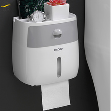 BR Bathroom Waterproof Tissue Box Plastic Bath Toilet Paper Holder Wall Mounted Paper Storage Box Double Layer Napkin Dispenser