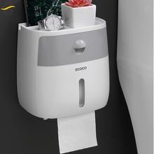 BR Ванная Комната Водонепроницаемый Держатель Туалетной Бумаги Настенный Ящик Для Хранения Салфетка Организатор