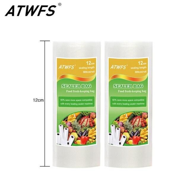 Atwfs Newest 12cmx500cm Roll Vacuum Bags For Food Storage Saver Packaging Sealer
