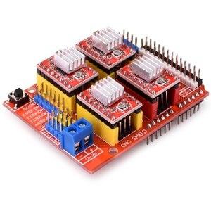 Image 5 - CNC חומת הרחבת לוח V3.0 + UNO R3 לוח + A4988 מנוע צעד נהג עם גוף קירור עבור Arduino