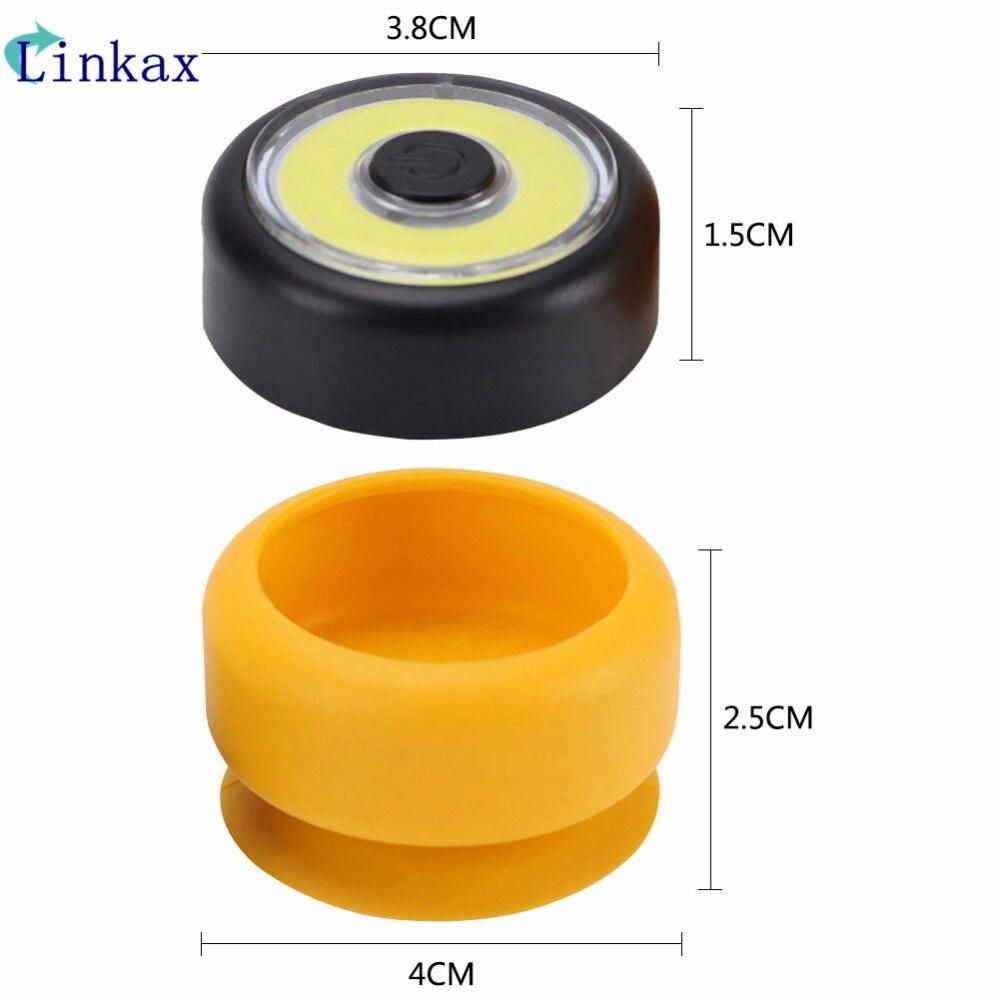 Mini COB LED Working Light Emergency Light Power By 2*CR2032 Battery COB LED Flashlight Portable Closets Lamp