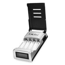 Carregador de Bateria para AA C905w 4 Slots Display LCD Inteligente AAA Nimh Nicd Baterias Recarregáveis Chargerbattery Plugue DA UE