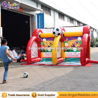 Factory direct sale 4X2.5X2.5 M Inflatable soccer goal for children inflatable football shooting games for kids outdoor toys