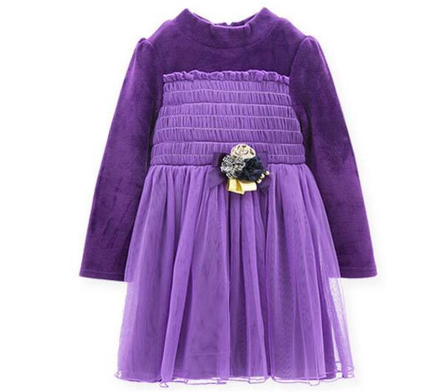 3 Colors baby girls Dress New Year Warm dress princess party costume for children baby girls dresses Girls Christmas Dress