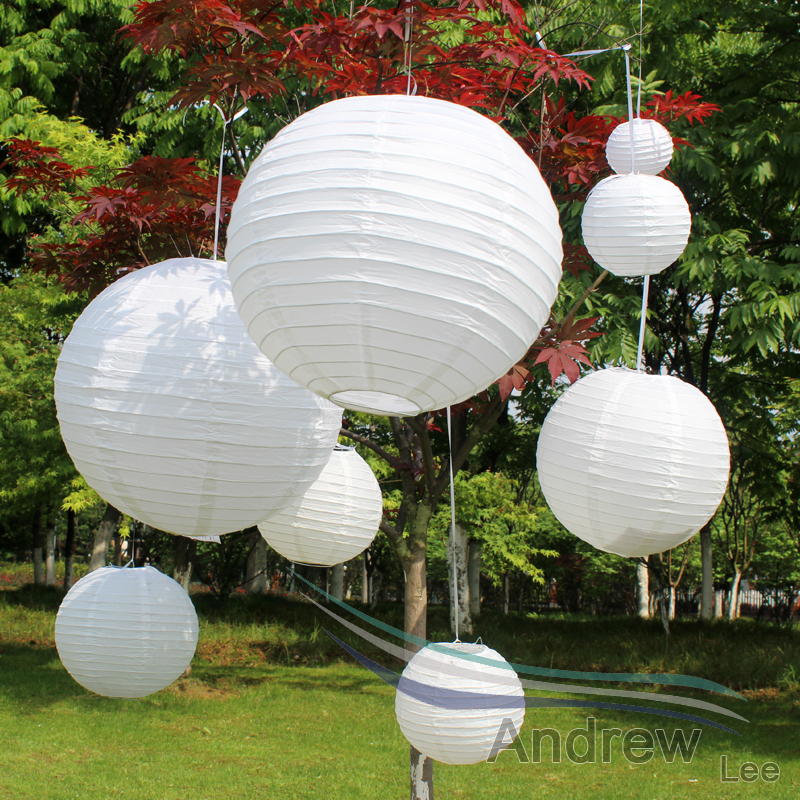 10pcs lot 14 39 39 35cm chinese traditional white paper lanterns for wedding party outdoor decor led. Black Bedroom Furniture Sets. Home Design Ideas