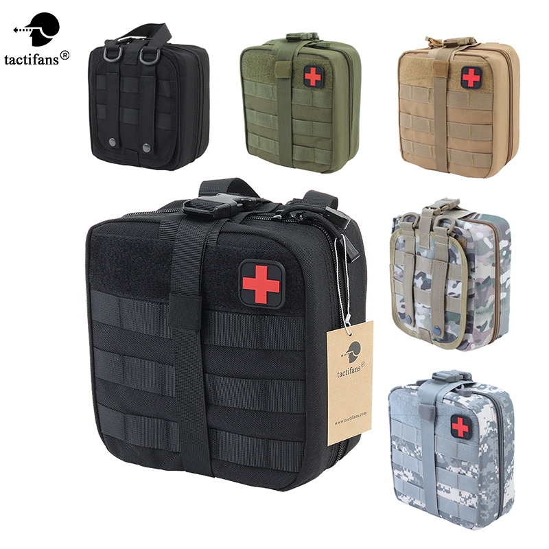 TACTIFANS Tactical Molle First Aid Pouch Bag Medical Pouch EMT Emergency EDC Rip-Away Survival IFAK Utility Car Bag