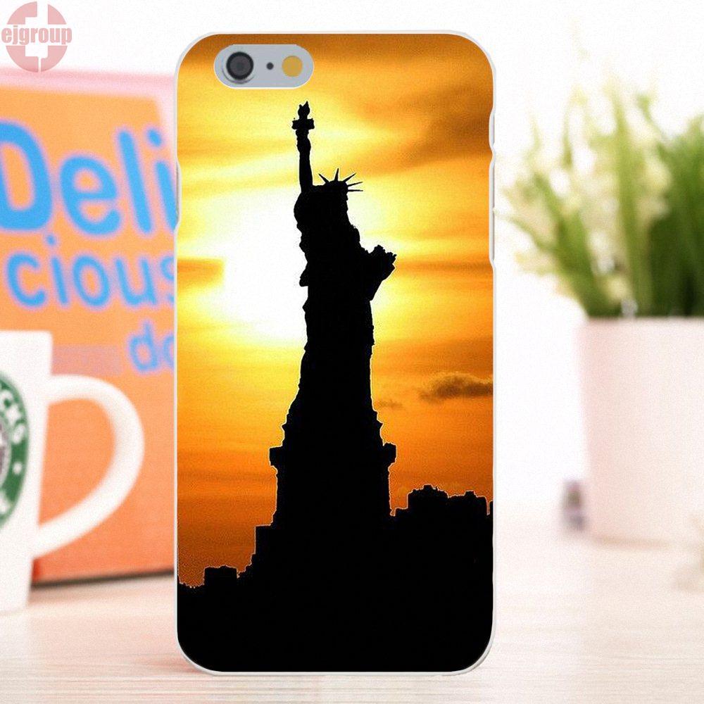 EJGROUP для Apple iPhone 6/6 s 4,7 дюймов Мягкие TPU кремния живопись кожи Нью-Йорке Ny статуя liberty