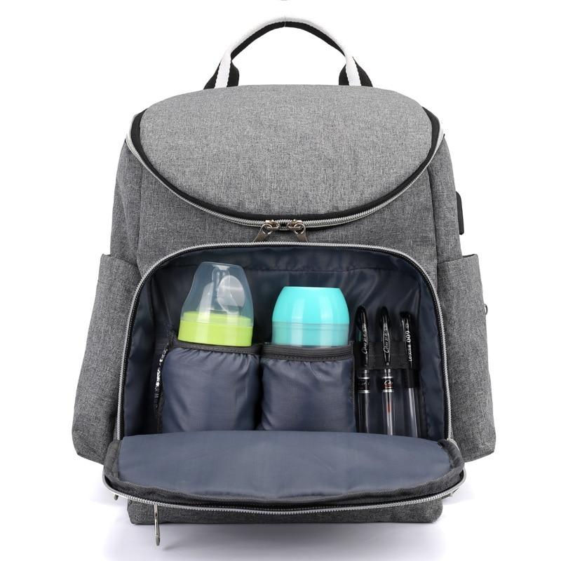 15 Zoll Große Kapazität Pflege Windel Baby Taschen Für Mama Papa Mutterschaft Reise Rucksack Usb Casual Daypacks Mutter Pflege