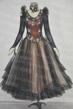 ballroom dancing tulle dress,Waltz Tango Ballroom Dance Dress, Girls/Women Modern Dance, Competition Dress,Standard Dance