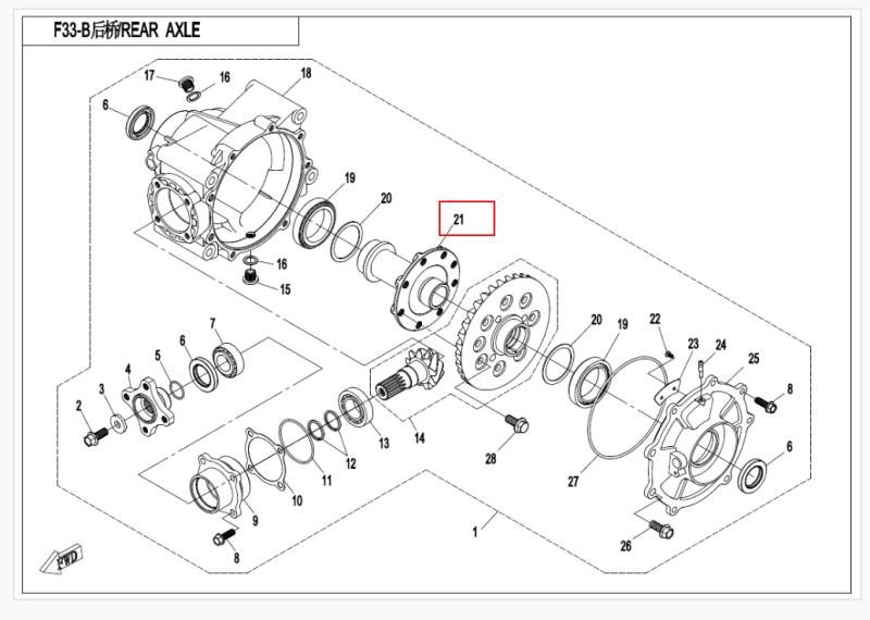 Rear axle mounting bracket fit for CFMOTO/CF ATV parts