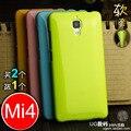 9 Цветов Новый Горячий Ми4 Лучшие Силиконовой Резины Soft ТПУ Задняя Крышка Телефона Сумка Для Xiaomi 4 M4 M 4 Ми 4 Mi4 Бесплатная доставка