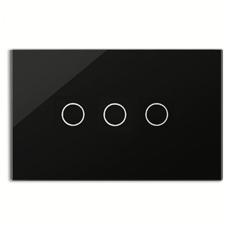 Bseed 240v Touch Switch 3 Gang 1 Way Light Touch Switch