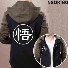 2017 New Spring Autumn Dragon Ball Z Hoodie Anime SON GOKU Coat Men zipper Jacket