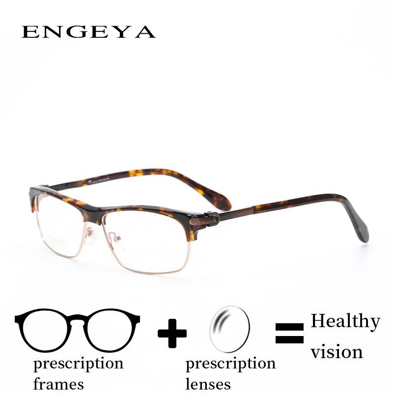 Ацетат сплав Для мужчин очки близорукость дальнозоркость мода Ясно компьютерная оптическая поляризованные очки по рецепту # F6706